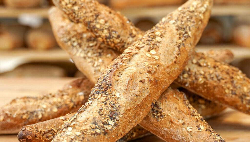 Roasted Malted Grain Baguette